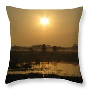 Starry Sunrise Throw Pillow