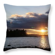 Starry Sunset Throw Pillow