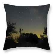 Starry Windmill Throw Pillow