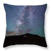 Stars And Car Trails Throw Pillow