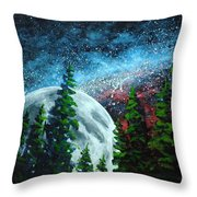 Stars And Moon Throw Pillow
