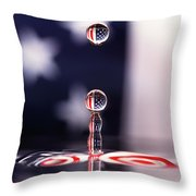 Stars And Stripes And H20 Throw Pillow