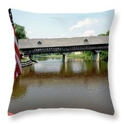 Stars And Stripes Frankenmuth Michigan Throw Pillow