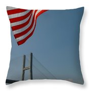 Stars And Stripes In Savannah Throw Pillow