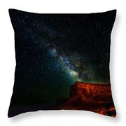 Stars And The Mountain Throw Pillow