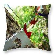 Stars Around Tree 2 Throw Pillow