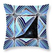 Stars Outside Throw Pillow