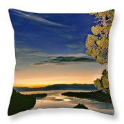 Stars Over Emerald Bay Throw Pillow