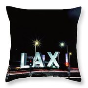 Stars Over Lax Throw Pillow