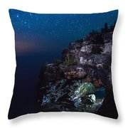 Stars Over The Grotto Throw Pillow