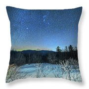 Stars Over The New Hampshire White Mountains Throw Pillow