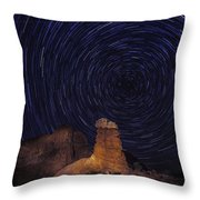 Stars Trails Throw Pillow