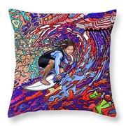 Starship Earth Throw Pillow