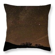 Start Night In Aspen Throw Pillow