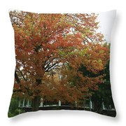 Start Of Autumn Throw Pillow