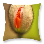 Starting To Open Throw Pillow