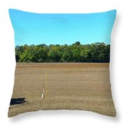 Starting To Plow Two  Throw Pillow