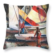 Starting Young Throw Pillow