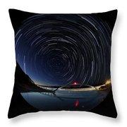 Startrails Throw Pillow