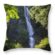 Starvation Creek Falls Throw Pillow