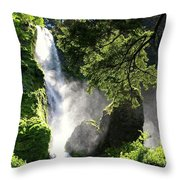 Starvation Creek Falls In September  Throw Pillow