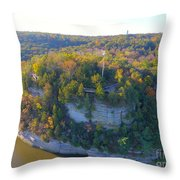 Starved Rock Ill, Throw Pillow