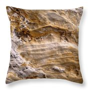 Starvedrocksandstonepatterns Throw Pillow