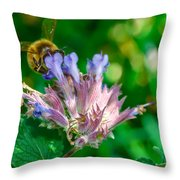 Starvin Marvin - The Bee Throw Pillow by Louis Rivera