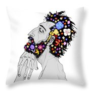 Starving For Peace Throw Pillow