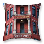State Capital Entry  Throw Pillow