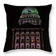 State Capitol Madison Wi Throw Pillow