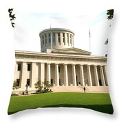 State Capitol Of Ohio Throw Pillow