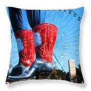 State Fair Of Texas Icons Throw Pillow