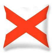 State Flag Of Alabama Throw Pillow