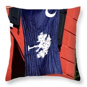 State Flag Of South Carolina Throw Pillow