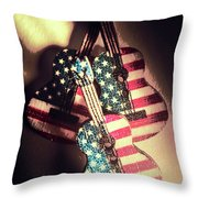 State Of Rock And Rock Throw Pillow