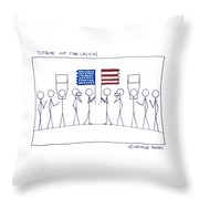 State Of The Union Throw Pillow