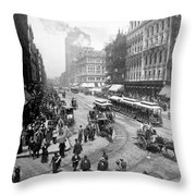 State Street - Chicago Illinois - C 1893 Throw Pillow