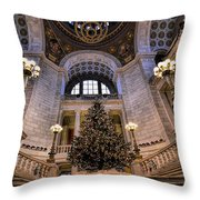Stately Christmas Tree Throw Pillow