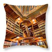 Stately Library Throw Pillow