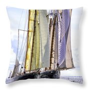 Stately Mariners Throw Pillow