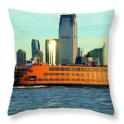 Staten Isalnd Ferry Barberi Throw Pillow