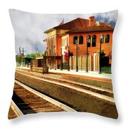 Station In Waiting Throw Pillow