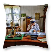 Station Master Mariefred Throw Pillow