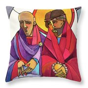 Stations Of The Cross - 01 Jesus Is Condemned To Death - Mmjcd Throw Pillow