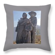 Statuary Dedicated To The American Indian Throw Pillow