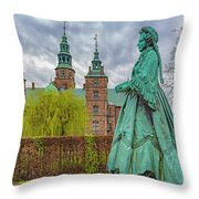 Statue At Rosenborg Castle Throw Pillow