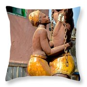 Statue Dedicated To Slaves Throw Pillow