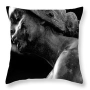 Statue In Black And White Throw Pillow