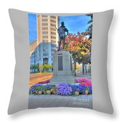 Statue In The Square Throw Pillow